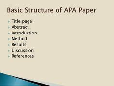 Sample psychology research paper outline
